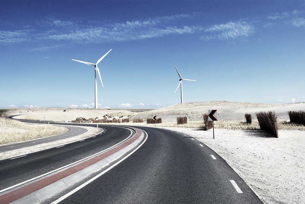 Grüne Energie Windkraftanlage
