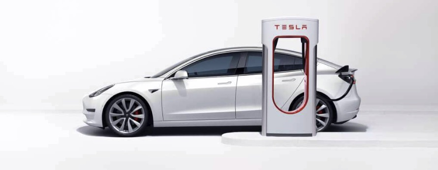 Tesla Model 3 Supercharger Elektroauto
