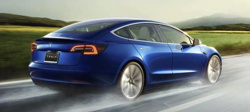 vollelektrische Tesla Model 3 Elektroauto